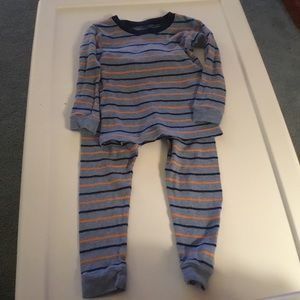 Carter's Boys Blue/Orange Stripe Pajamas. Size 2T